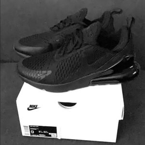 Nike Air Max 270 All Black Size 9 Men's
